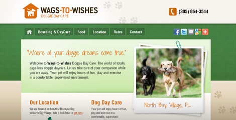 Web pro Wags-to-Wishes